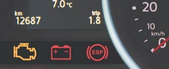 dashboard lampjes die branden bij een auto